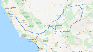 Honeymoon Ideas - West Coast USA Road trip