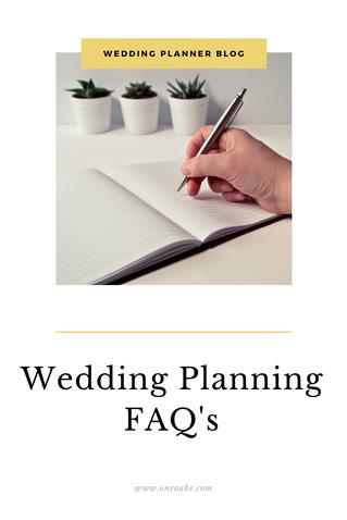 Wedding Planning FAQ's