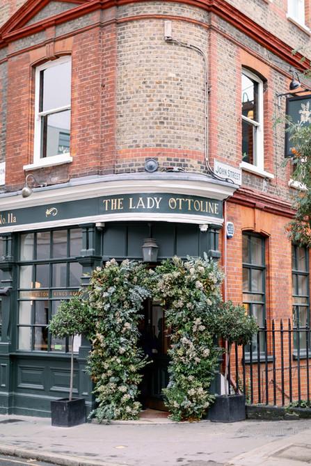 Arch at London Pub Wedding