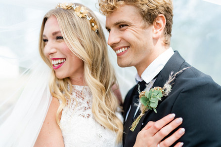 Bride and Groom Shot at Downham Hall