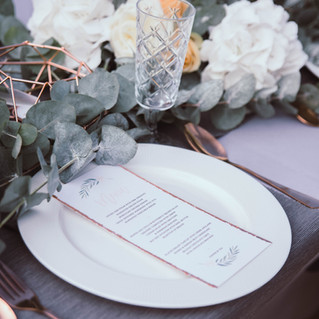 Copper botanical styled shoot.