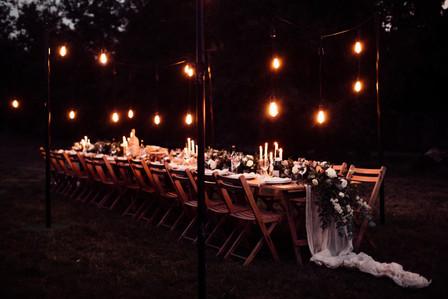 Vineyard Reception at night