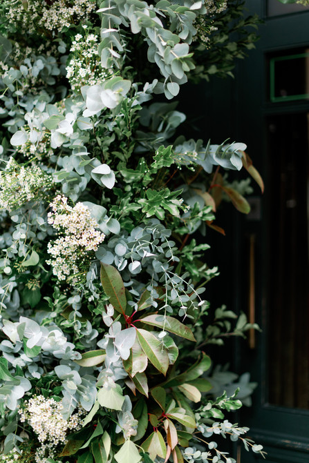 Foliage Arch at London Wedding