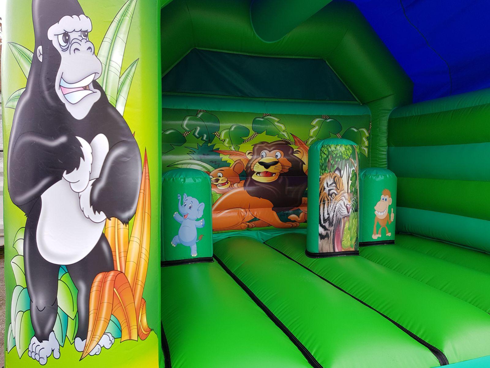 Jungle Theme Bouncy Castle