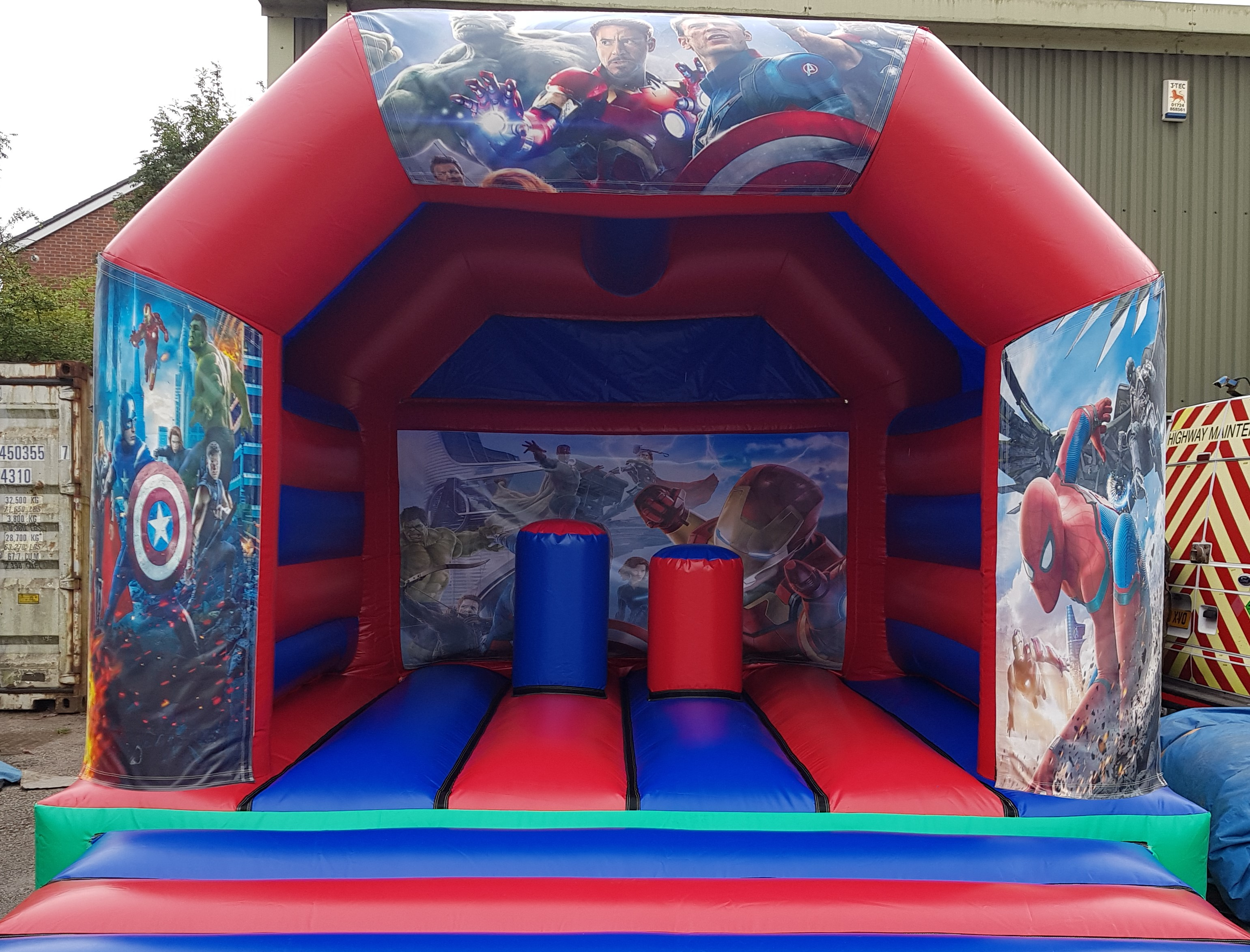 Superhero Activity Bouncy Castle