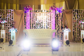 Lighting hire for weddings.