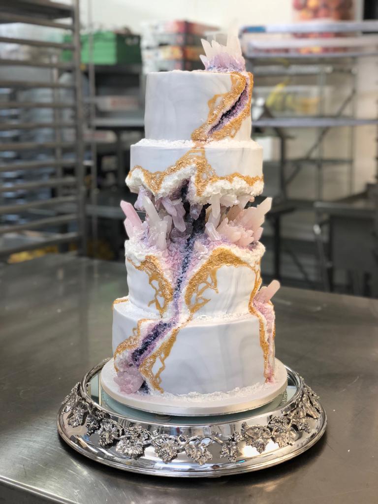 Geode Wedding Cake.Geode Wedding Cake