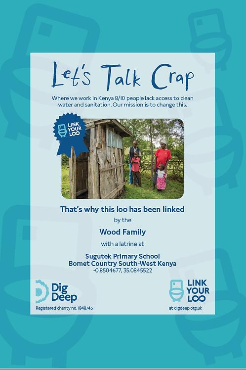 Framed Link You Loo: 'Let's talk crap'