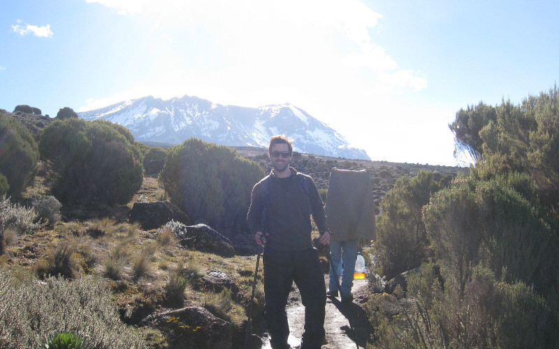 Mark on his Kilimanjaro trek