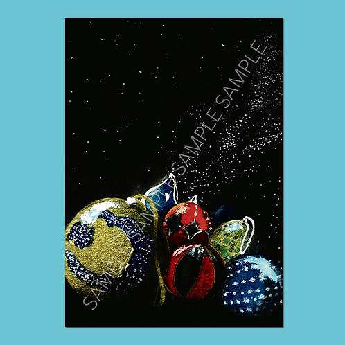 Maasai Baubles Christmas Cards