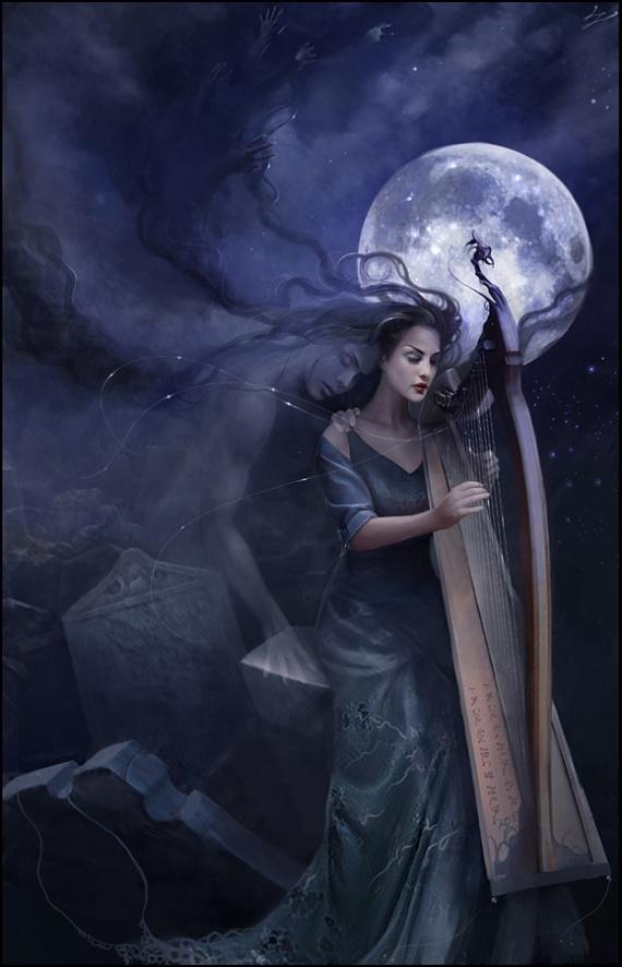 EuZéphirine et la harpe (de Sylvain Lamur)