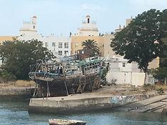 'Trockedock' im Hafen von Santa Maria.