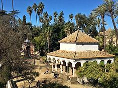 Pavillon im Alcazar von Sevilla