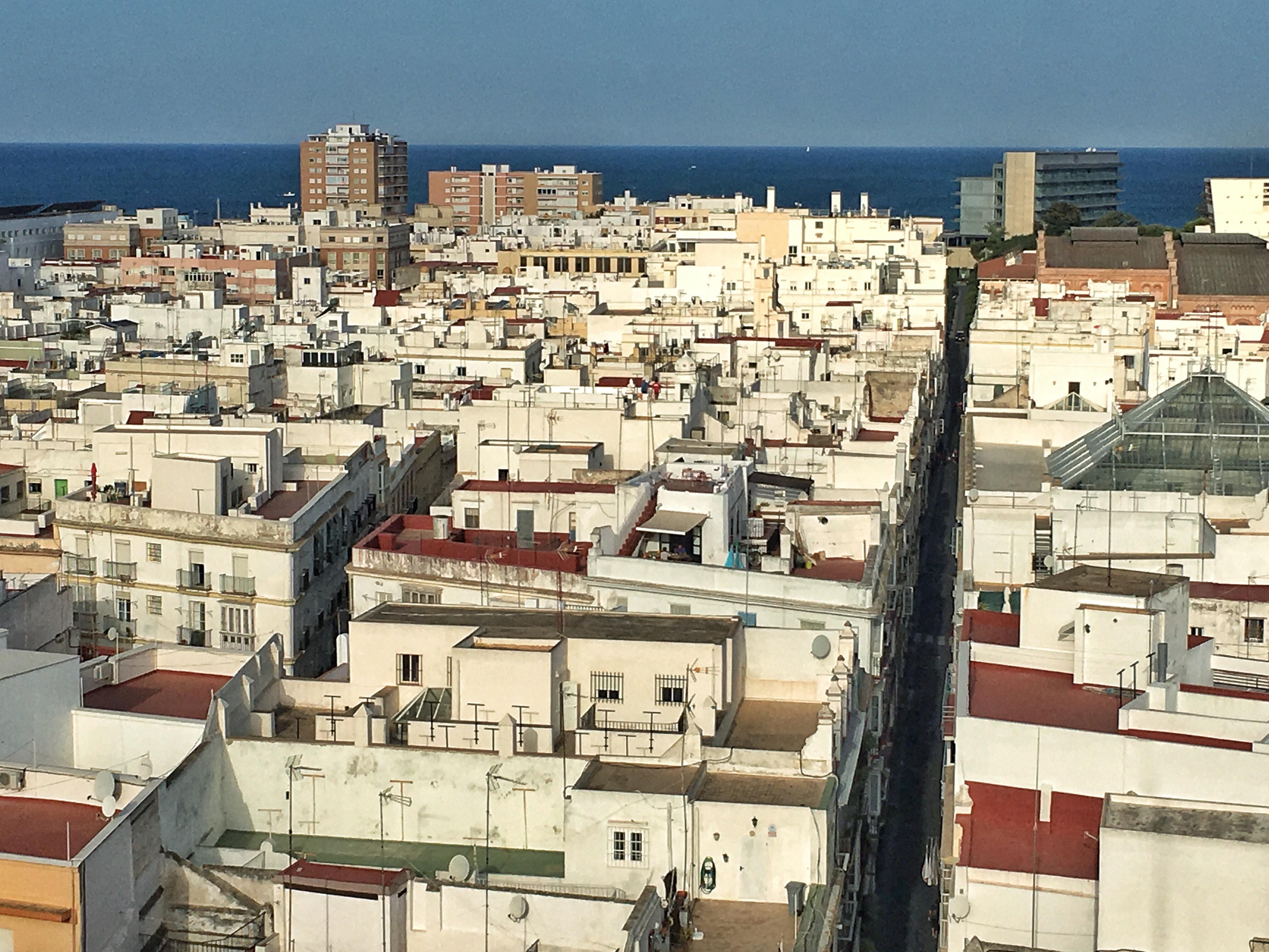 Blick vom Torre Tavira in Cadiz