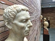 Büste eines Mannes im Museum für römische Kunst in Mérida