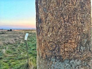 Inschrift an einem römischen Meilenstein bei Fuenterroble