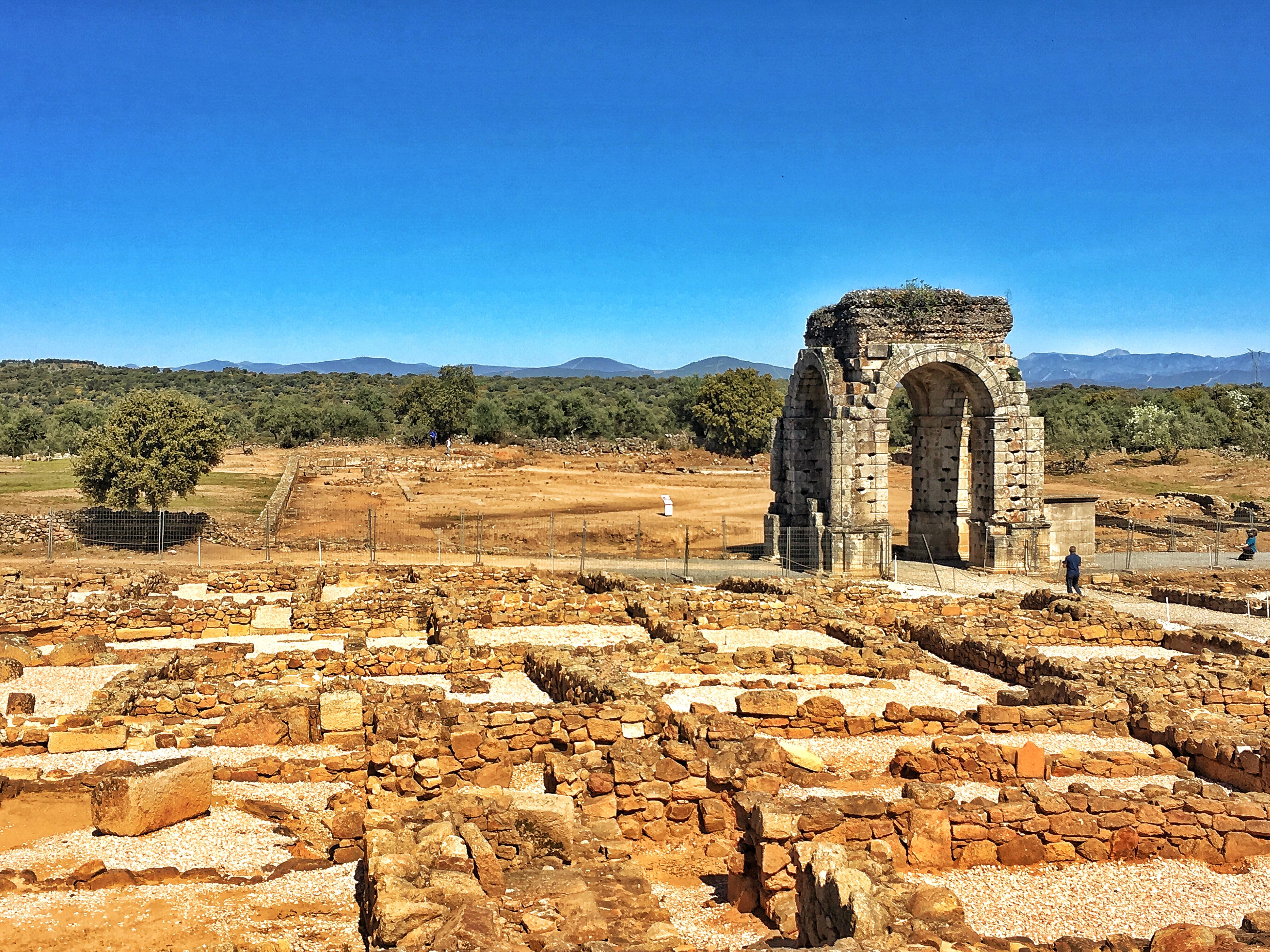 Cáparra, Reste einer Römerstadt