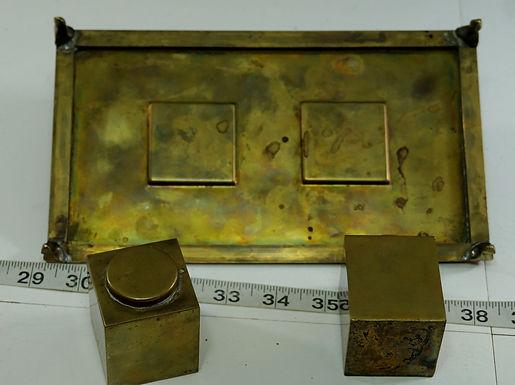 Brass Inkwell Set