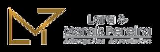 """Logotipo com as iniciais """"LMP"""" e ao lado escrito """"Lara & Morais Pereira Advogados Associados""""."""