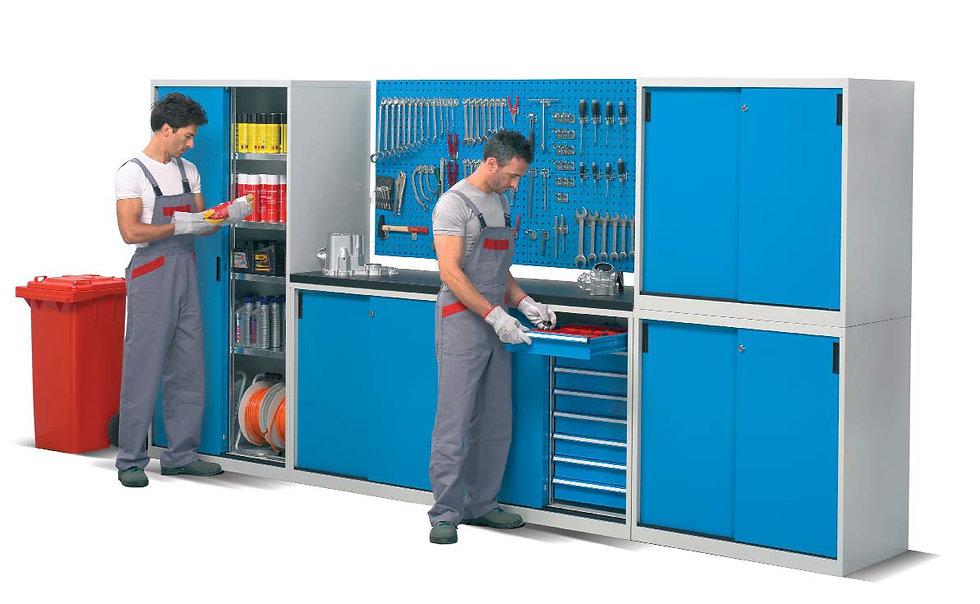 Industrial Cupboards - Workfloor Equipment