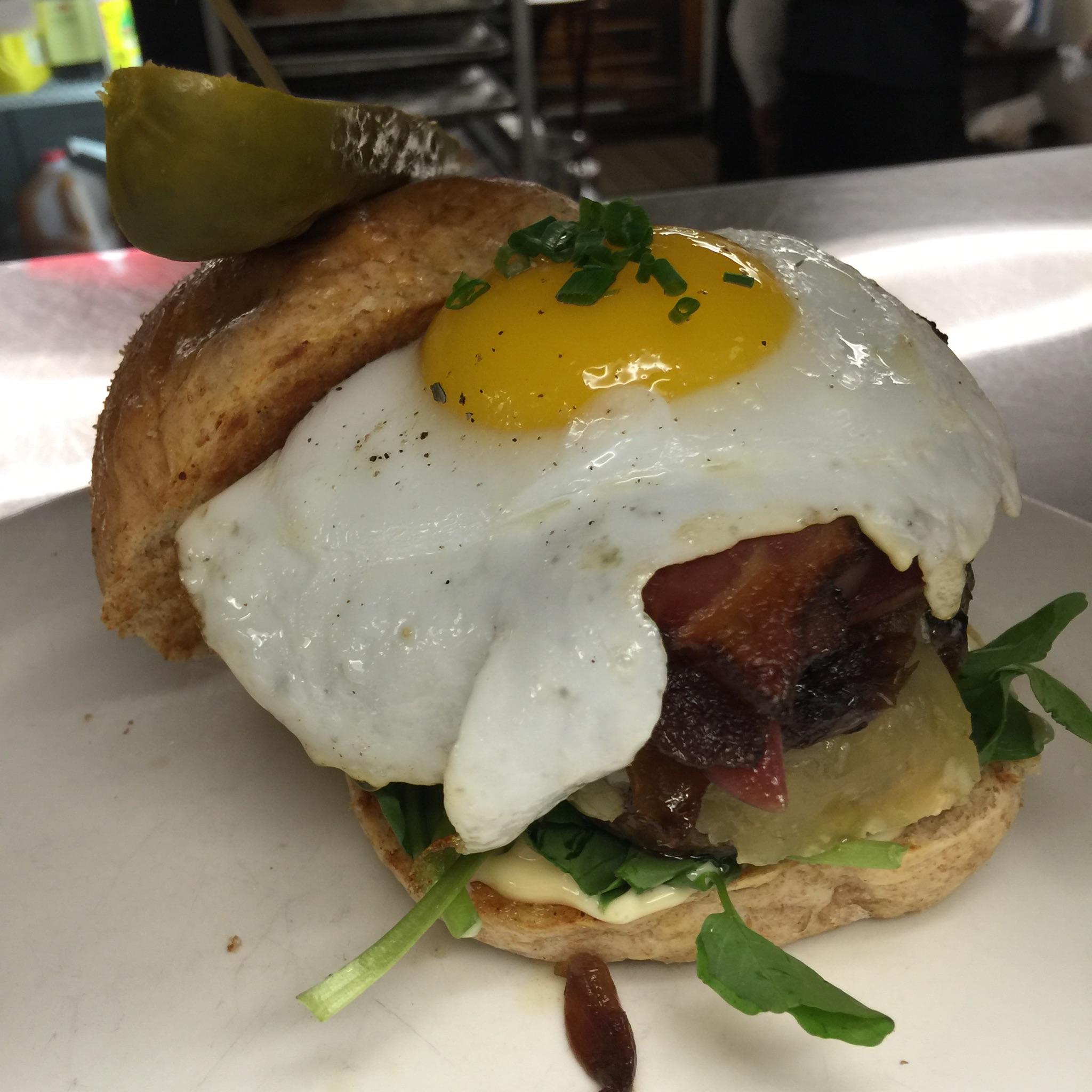 Dowie Farm Duck Egg Burger
