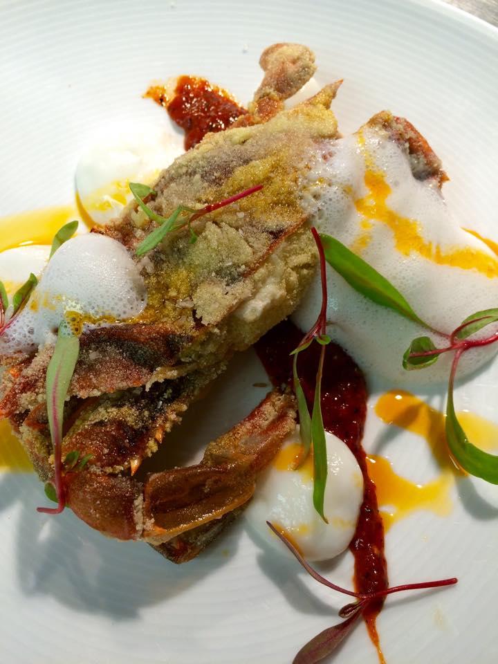 CEIA Soft shell crabs Harissa Buttermilk BEETS