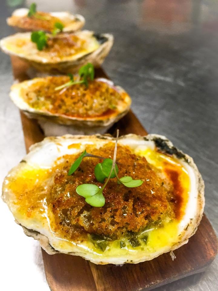 Brine_BBQ_Broiled_Oysters_and_Creamed_Jalapeños