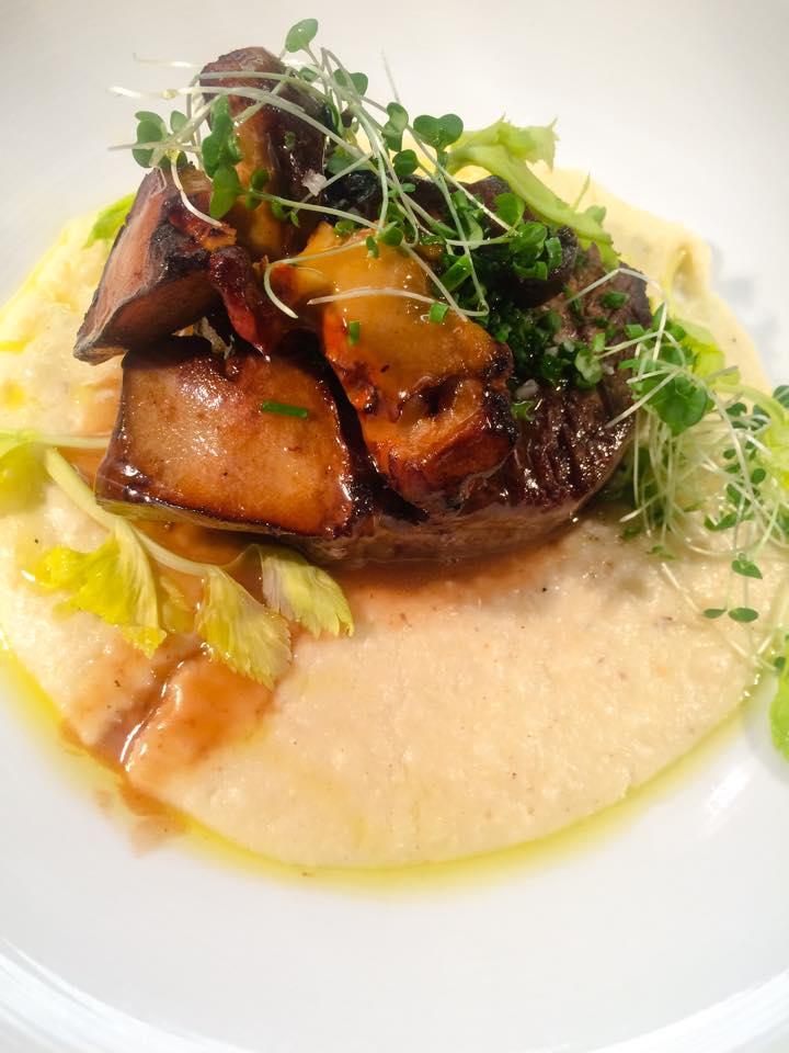 CEIA New Filet Mignon Set wCorn Polenta Lobster Mushroom  Demi
