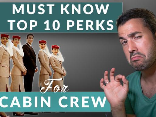 Aviation HACKS | Top 10 BENEFITS for Flight attendants & Cabin Crew [EXPLAINER]