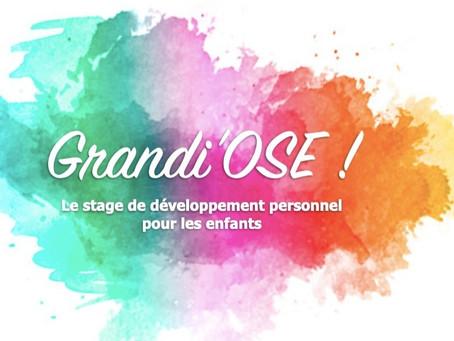 Stage Grandi'Ose ! du 6 au 9 avril 2021