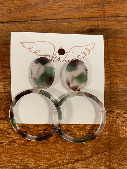 Virtue Earrings - Acrylic Circle
