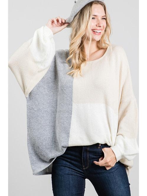 "Oversized ""Bubble"" Sleeve Sweater"