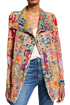 Railey Multicolor Floral-Embroidered Jacket