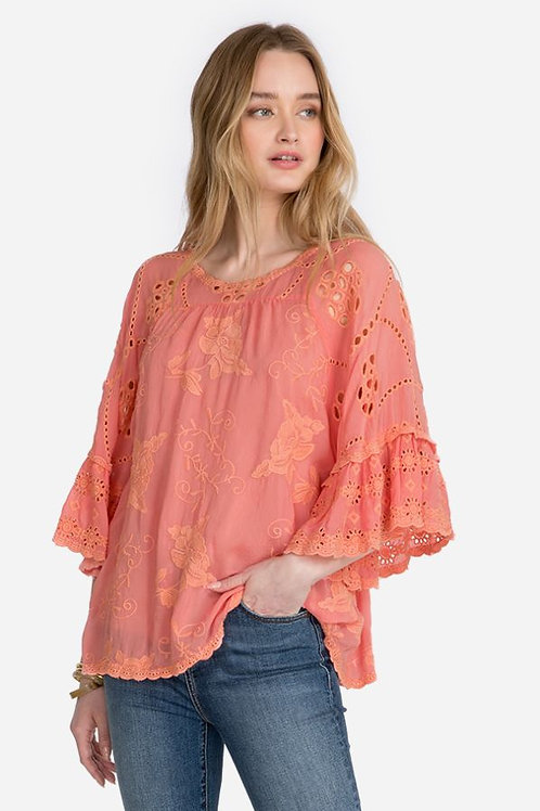 Johnny Was Collection - Ruffle Blouse
