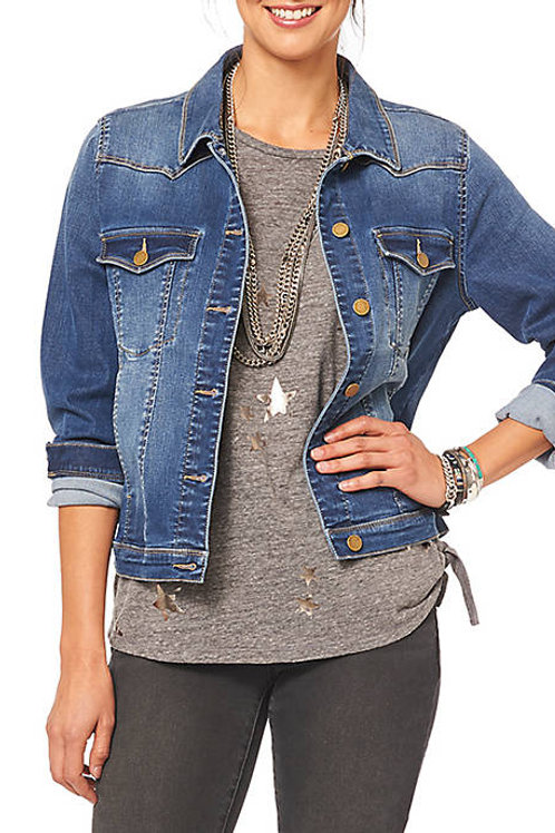 Long Sleeve Western Denim Jacket