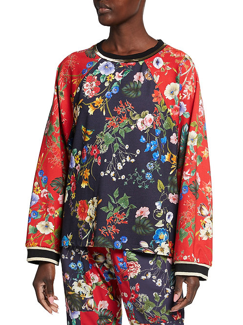 Johnny Was - Chateau Floral-Print Raglan-Sleeve Pullover