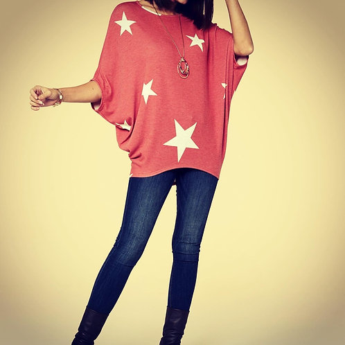 Jupee - Dolman Sleeve W/Stars