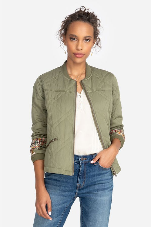 Johnny Was - Leigh Quilted Seam Bomber