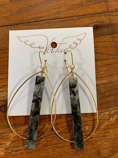 Virtue Earrings - Teardrop Hoop