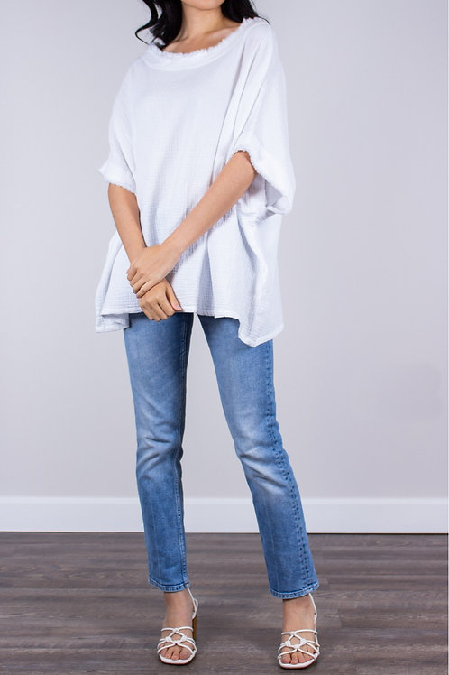 BEFORE YOU COLLECTION - Gauze Poncho Top