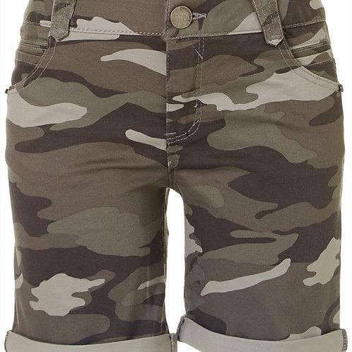 """Camo """"cuffed"""" Shorts"""