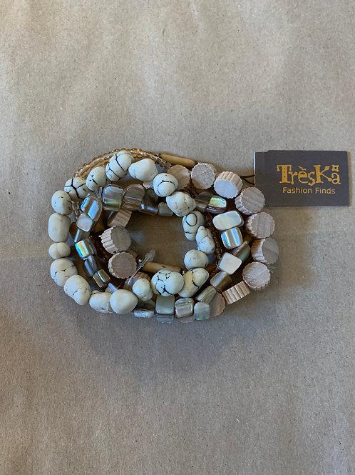 Treska - 5 Strand Stretch Bracelets