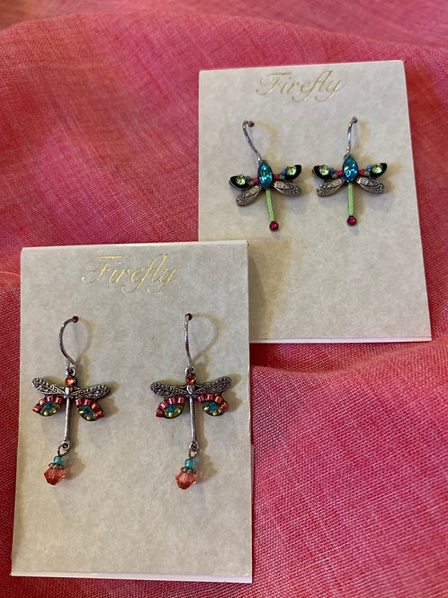 Firefly - Dragonfly Earring-PINK