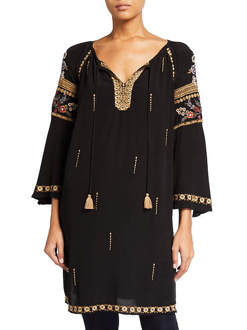 Johnny Was Workshop - Sabah Tassel Neck Dress