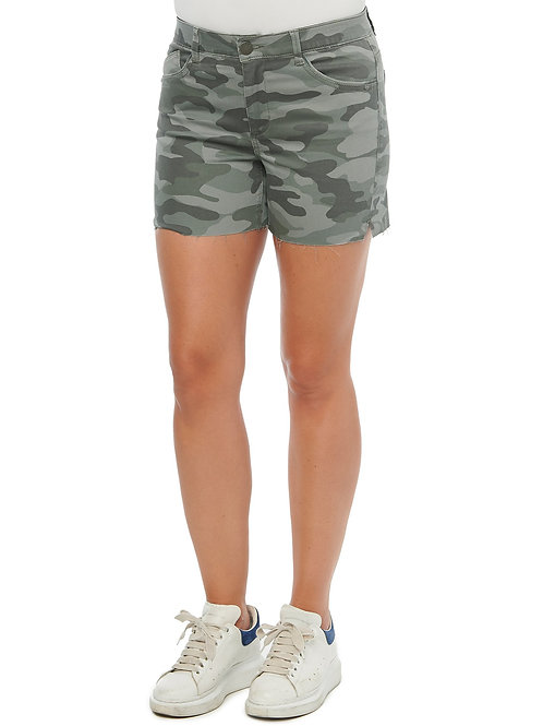 "Camo ""raw edge"" Shorts"