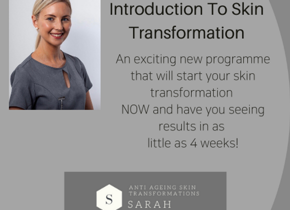 4 Week Introduction To Skin Transformation