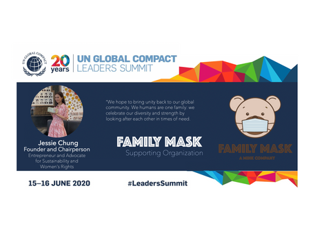 Family Mask supports UNGC #LeadersSummit 2020