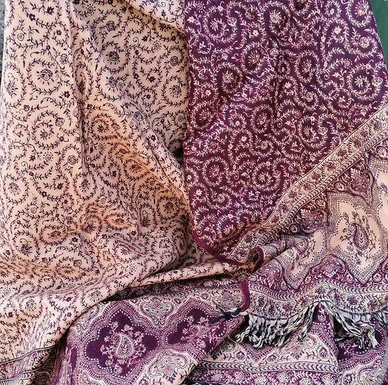 YK01 TIBET handloom Yak wool shawls 100x200 cms
