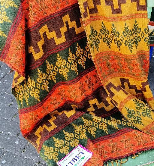 YK07 TIBET handloom Yak wool shawls 100x200 cms