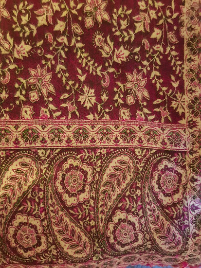 SH04 Tibetan Yak Wool Shawl 85x210cms